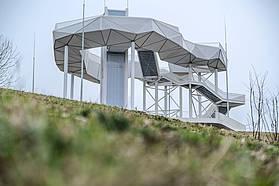 Aussichtsbauwerk Wolkenhain auf dem Kienberg der IGA
