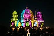 Berliner Dom bei Festival of Lights in Berlin