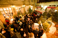 Christmas reception with mulled wine at Hotel Albrechtshof