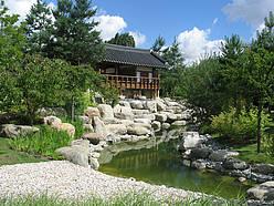 Der koreanische Garten.