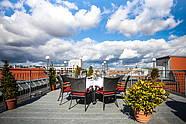 Die Dachterrasse im Hotel Allegra