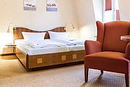 Double room of the Hotel Albrechtshof in Berlin Mitte