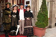 guests in costumes at the entrance of Hotel Albrechtshof