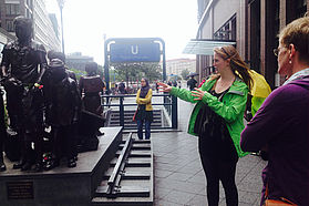 Guided city tour at Friedrichstraße station