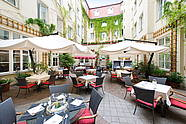 Idyllischer Hofgarten im Restaurant ALvis