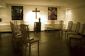 Martin Luther King Chapel at the basement of Hotel Albrechtshof