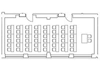 Option: Parlamentarische Anordnung im Veranstaltungsraum Kombination Spener & Fliedner