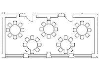 Option: runder Tisch im Veranstaltungsraum Kombination Spener & Fliedner