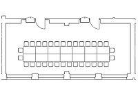 Option: Tafel-Anordnung im Veranstaltungsraum Kombination Spener & Fliedner