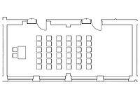 Option: Theater-Anordnung im Veranstaltungsraum Kombination Spener & Fliedner