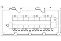 Option: U-Form-Anordnung im Veranstaltungsraum Kombination Spener & Fliedner