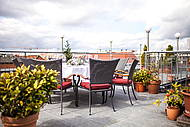 Roof Terrace of Hotel Allegra - enjoy a phantastic view over Berlin
