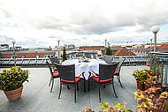 Roof Terrace of Hotel Allegra for private and business Events