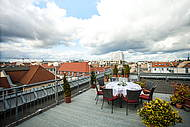Roof Terrace of Hotel Allegra for private and business Events in Berlin