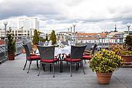 Roof Terrace of Hotel Allegra near Charité Berlin