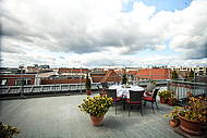 Roof Terrace of Hotel Allegra with a view of the Reichstag Building