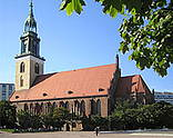 St. Mary's Church near Alexanderplatz in Berlin-Mitte