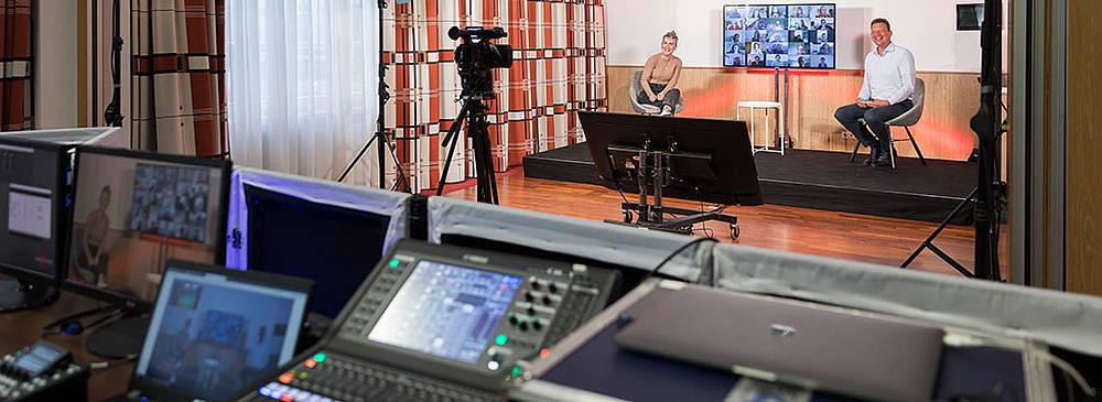 Streaming Studio im Hotel Albrechtshof in Berlin Mitte