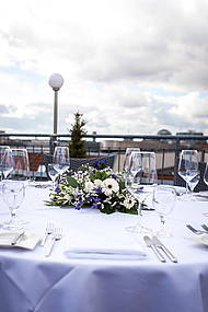 Table decoration at the Roof Terrace of Hotel Allegra