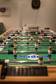 "Foosball table at the ""Freiraum"" at Hotel Allegra"