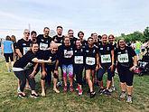 Teamläufer beim Berlin Marathon