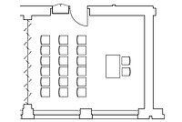 Theater-Anordnung im Veranstaltungraum Spener oder Fliedner
