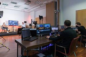 [Translate to English:] Streaming Studio im Hotel Albrechtshof in Berlin Mitte